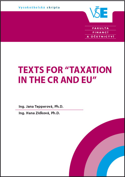 "Texts for ""Taxation in the CR and EU"""